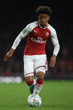 Reiss Nelson of Arsenal in 2017.