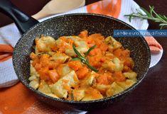 I bocconcini di pollo cremosi con la zucca è un secondo piatto molto gustoso. Mi ritrovavo con della zucca e vi assicuro che non sapevo davvero cosa farne.