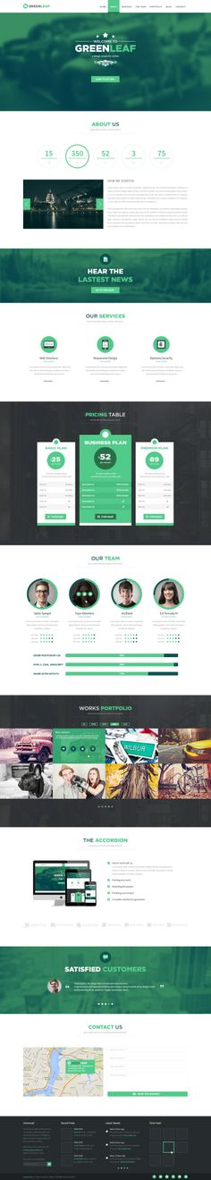 GreenLeaf One Page Web + Blog PSD Template. More info on http://themeforest.net/item/greenleaf-one-page-web-blog-psd-template/6668621?ref=ubaidullahbutt