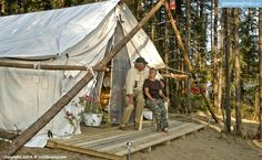 1000 images about glamping on pinterest wall tent tent for Woods prospector tent