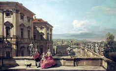 """Bellotto Bernardo - View From East Of Garden Of Palace Lihtenshtein1 1760 Kuhi  (from <a href=""""http://www.oldpainters.org/picture.php?/45944/category/15206""""></a>)"""