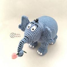 For all Dr. Seuss lovers, a sweet handmade amigurumi Horton the Elephant, from the book Horton hears a Who! The finished doll is approximately 8 inches tall. Horton amigurumi is made of a soft acrylic yarn, polyester fiberfill stuffing and plastic safety eyes. I accept custom order... send me a message if youd like to request a personalized doll. Every item in my shop is handmade in a pet and smoke free environment.