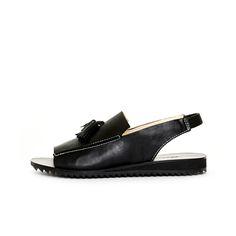 Loafer Sandal Rubber Black by Terhi Pölkki