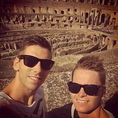 The boyfriend and I inside The Colosseo