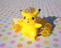 Awesome Pikachu Pokemon Rosary Jewelry Necklace by RainbowCastle, $27.99