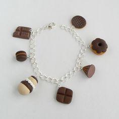 Bracelet mignardises de chocolat Fimo Polymère