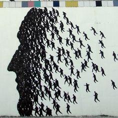 Street art by David de la Mano et Pablo S. Herrero