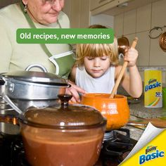 Tell us: What family recipes do your kids make with grandma? Old Recipes, Family Recipes, Family Meals, Bounty Paper Towels, Kids, Toddlers, Boys, Cook Books, For Kids