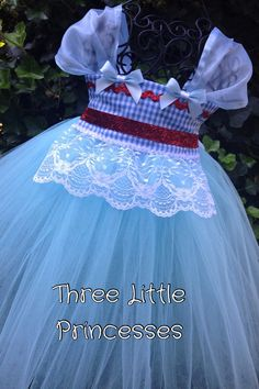Dorothy Tutu Costume by threelittleprincess on Etsy