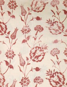 Pomegranate in Desert Rose from Carolina Irving Textiles #fabric #hemp #red