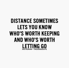 Distance makes the heart fonder