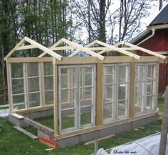 greenhouse made from old windows - lindaensblog.blogspot.com by Ann-Marie Del Monte