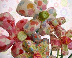 paper mache daisies by Jill Bedford