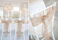 might compliment the white table linen/chair covers to have a neutral colour