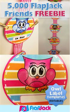 FlapJack Educational Resources: Hanging Editable Owl Circle Templates FREEBIE for 5,000 FlapJack Facebook Friends! Thank you!