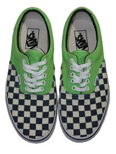 cd4d41a132c3 Vans Era Van Doren Green Flash Checkered Trainers