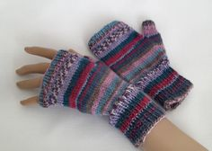 Ladies Fingerless Gloves - Mittens - Hand Knitted - Wool Texting Gloves £12.00