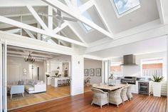 Skylights in roof of Phil & Amity's house in Australia. I love their design style.