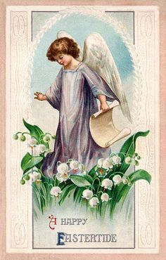 Vintage Angel Easter Card