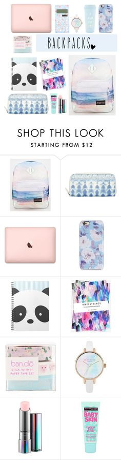"""""""Senza titolo #31"""" by littlerain99 ❤ liked on Polyvore featuring JanSport, Billabong, Isaac Mizrahi, Nikki Strange, ban.do, MAC Cosmetics, Maybelline, backpacks, contestentry and PVStyleInsiderContest"""
