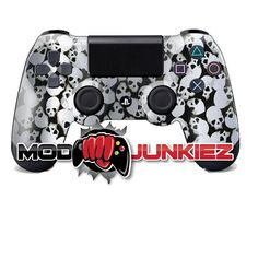 Hydro Dipped Silver Tiny Skulls PS4 Dual Shock 4 Controller