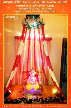 ganpati decoration ideas ganapati deity decoration pinterest
