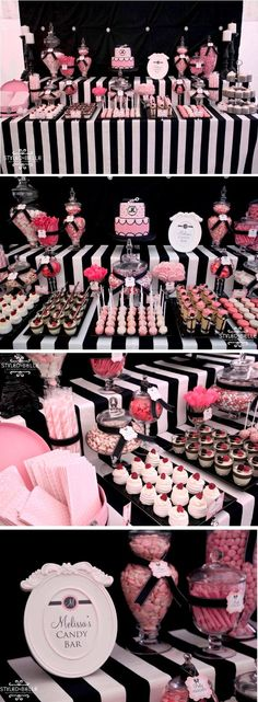 Ideas for birthday party dcoration sweet 16 kate spade Paris Birthday Parties, Grad Parties, Birthday Party Themes, Girl Birthday, 17th Birthday, Birthday Ideas, Chanel Party, Sweet 16 Parties, Pink Parties