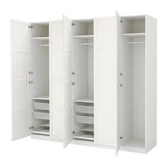 IKEA - PAX, Armoire-penderie, charnière fermeture silencieuse, , Garantie 10 ans gratuite. Détails des conditions disponibles en magasin ou sur internet.Vous pouvez facilement adapter cette combinaison standard PAX