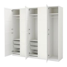 PAX Garderobeskap - hengsler med dørdemper, 250x60x236 cm - IKEA