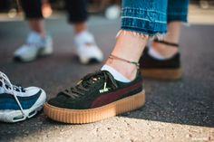 Rihanna x PUMA Creepers Green Bordeaux