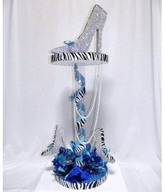 Fancy Heels Centerpiece is 3 feet tall! Use for Girl's Night Out, Shopping, Fashion or High Heel Shoe themed party. Denim And Diamonds, Party Centerpieces, Centerpiece Ideas, Quinceanera Centerpieces, Floral Centerpieces, 50th Birthday Party, Decoration Table, Event Decor, Event Themes