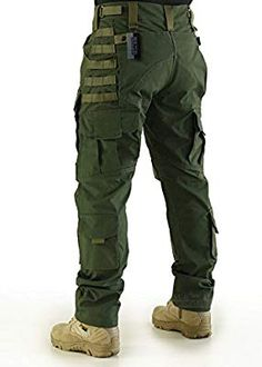 Amazon.com : ZAPT Breathable Ripstop Fabric Pants Military Combat Multi-Pocket Molle Tactical Pants with EVA Knee Pads (Coyote Brown, L) : Sports & Outdoors