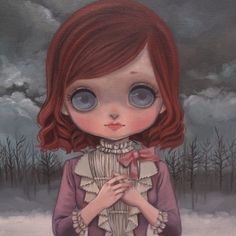 I'm going to sell a few of my old collections paintings soon :) More info this week #art #oil #bigeyedart #blythe #nereapozo