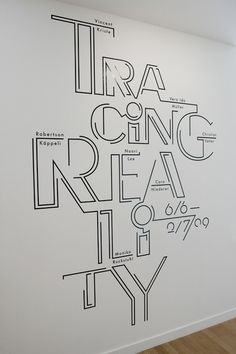 Tracing Reality #mural #wallart #type