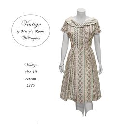 New dress, made by us in Wellington, from medium weight vintage cotton