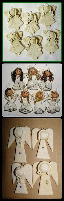 ideas for clay angels Angel Crafts, Christmas Crafts, Christmas Ornaments, Paper Clay, Clay Art, Christmas Angels, Christmas Art, Pottery Angels, Clay Angel