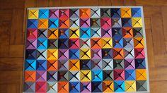 Quadro em Origami Nome Alegria Tamanho 60cmX42cm 174 papéis