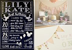 Shabby Chic Vintage 1st Birthday Party via Kara's Party Ideas karaspartyideas.com #shabby #chic #party #idea #1st
