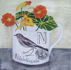'N is for nightingale' Debbie George www.debbiegeorge.co.uk