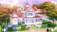 Welcome to another house building video! Today we're building with the completely new The Sims 4 expansion pack, Seasons! I'm so excited to share this spring. Sims 1, Sims 4 Mods, The Sims, Sims 4 Expansions, Sims 4 House Building, Sims House Design, Scandinavian Apartment, Background Drawing, Sims 4 Build