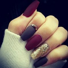 67 Best Matte Nails! View them all right here -> | http://www.nailmypolish.com/matte-nails/ | @nailmypolish