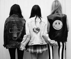 Punk jackets, cross, heart, smile #punk #fashion