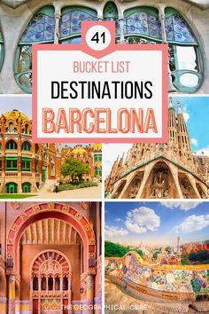This is the ultimate guide to 40+ must see landmarks and attractions in Barcelona. You visit this magical city for its dazzling architecture. Barcelona is home to centuries old Gothic wonders, Modernist/Art Nouveau fantasias, and cutting edge contemporary architecture. This Barcelona itinerary takes you to all of Barcelona's must see sites and historic monuments. It tells you everything to see and do in Barcelona. Barcelona Itineraries | Barcelona Destinations | Best Things To Do in Barcelona Sweden Travel, Austria Travel, Iceland Travel, Europe Travel Tips, Spain Travel, France Travel, European Travel, Travel Guides, Portugal Travel