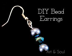 DIY Bead Earring Tutorial: step by step guide on creating your own bead earrings. #bead #crafts #diy #fashion #jewelry