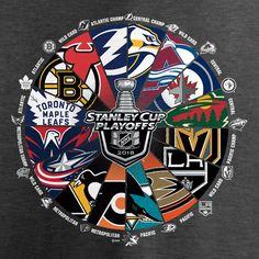 30247739 NHL Fanatics Branded Women's 2018 Stanley Cup Playoffs Bound War Room  V-Neck T-Shirt – Heather Gray
