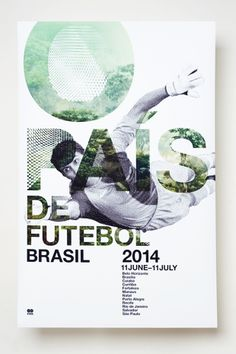 A poster series and schedule for the 2014 World Cup in Brasil. The qualities of the jungle were combined with iconic players.