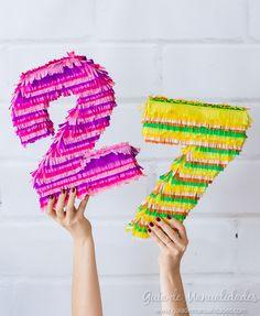 Números de cartón y papel para fiestas fáciles y bonitos