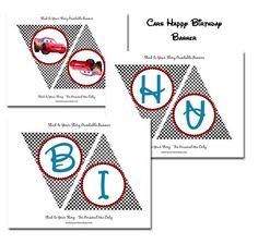 disney cars birthday party banner printable