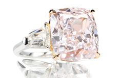 This fancy pink diamond ring is expected to fetch $ 5 million at Christie's sale of Magnificent Jewels in Geneva Nov. 13.