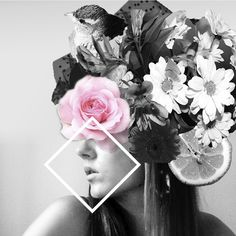 I'd rather wear flowers in my hear, than diamonds around my neck. #collage #mywork #fashion #photography #flowers